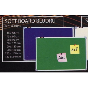 Sofboard Bludru Gantung 60×120