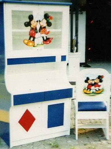 Duco Meja Belajar Anak Mickey White Duco   Meja Belajar Anak Mickey White
