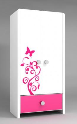 Melody Lemari Pakaian Anak 2 Pintu type CHIC Pink Melody   Lemari Pakaian Anak 2 Pintu type CHIC Pink