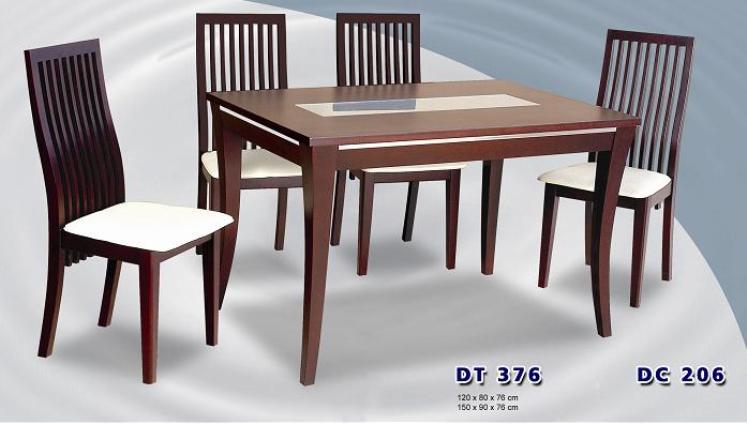Siantano Meja & 6 Kursi Makan type DT 376 & DC 206 ( Jok )