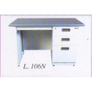 Lion – Meja Kantor Besi Berikut Laci type L-106 N