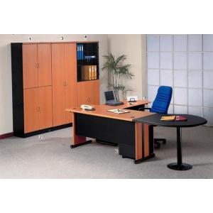 Uno – Meja Kantor Gold Series Warna Cherry-1