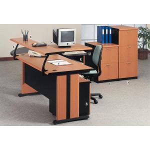 Uno – Meja Kantor Gold Series Warna Cherry-2