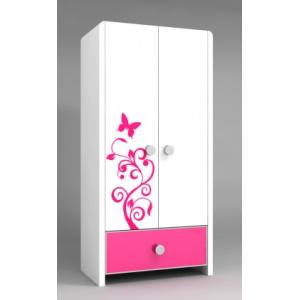 Melody – Lemari Pakaian Anak 2 Pintu type CHIC Pink