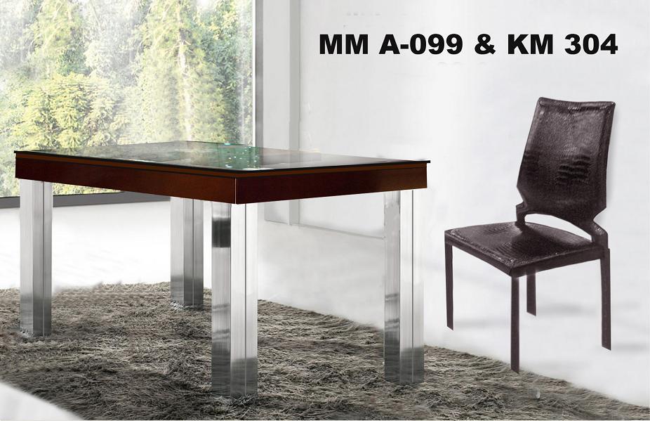 Mwh Meja Makan Persegi & Kursi Makan type MM A 099 & KMB 034